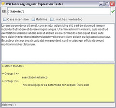 WizTools.org RegularExpression Tester