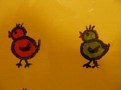 2 Spatzen (erikaheinzurlaub) Tags: pictures blue red sea black color colour green rot bird colors birds yellow yahoo nikon meer colours picture gelb coolpix grün blau bild vögel möwe taube 2009 schwarz möwen bilder spatzen acryl vogel farben spatz zeichnung nikoncoolpix leinwand gemälde zeichnen ötschen ötsch