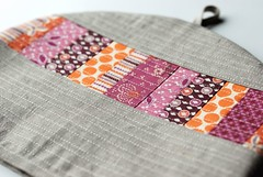 Plum Posy Cozy (Retro_Mama) Tags: orange floral modern purple linen lavender quilting teapot patchwork teacozy hopevalley deniseschmidt