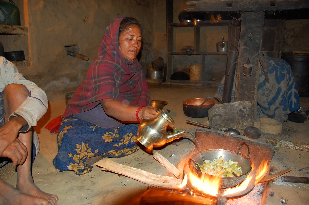 Thami Woman Prepares Dinner, Eastern Nepal