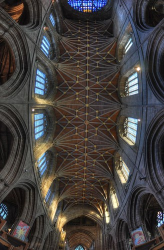 HDT Fisheye image of the interior of Chester Cathedral