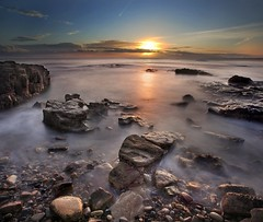 Sunrise... (i.rashid007) Tags: uk longexposure morning england seascape sunrise northumberland northeast stmarys whitleybay nearrangefinder