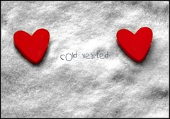 Cold Hearted (Clodders) Tags: red snow heart coldheart
