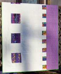Two Sides To Every Story......back (maybe) (...dotty...) Tags: rainbow quilt multicolor reversible machinepieced machinequilted whitesashing piecedback