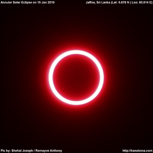 Annular Phase of Annular Solar Eclipse 15th January 2010, Live Video !!