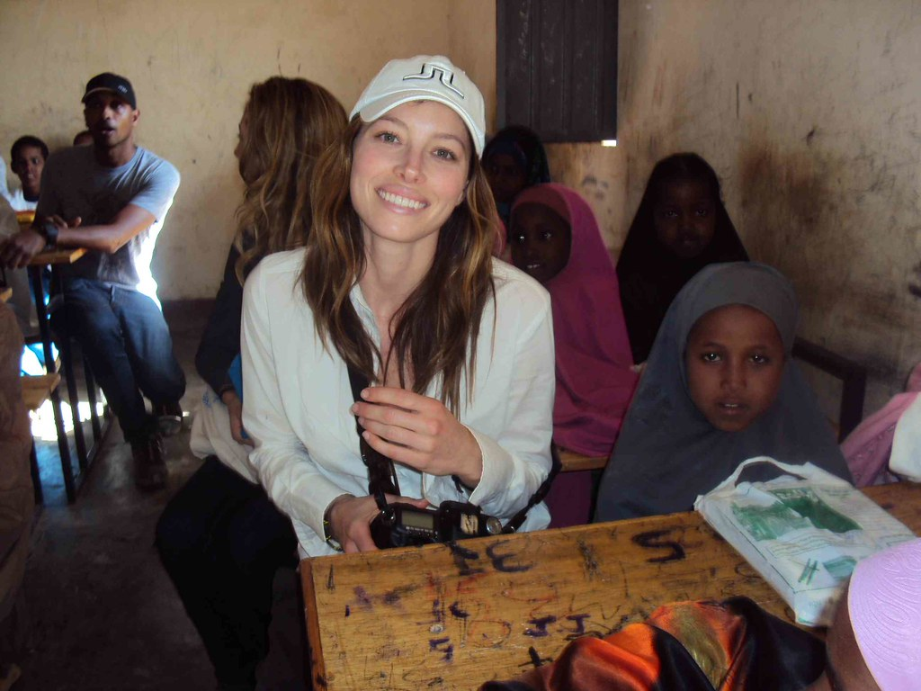 UNHCR News Story: Celebrities visit refugee camp in Ethiopia after scaling Kilimanjaro