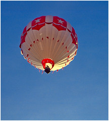 Red, White and Blue on Kodachrome (hz536n/George Thomas) Tags: blue red summer sky white film 35mm flying kodak ae1 michigan hotair balloon january scan kodachrome canonae1 2010 smrgsbord cs3 dimagescandualiv p1f1 hz536n
