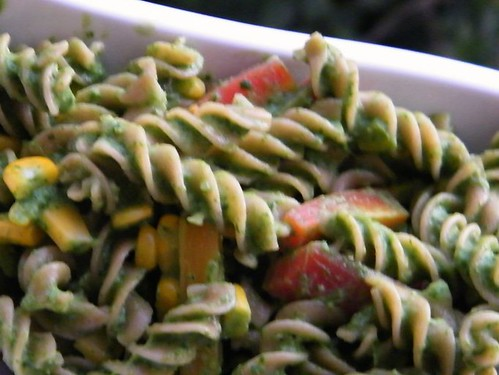 spinach-almond pasta