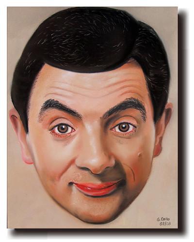 rowan atkinson daughter. portrait of Rowan Atkinson