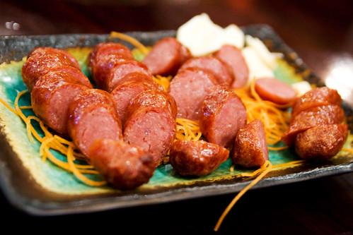 Grilled Taiwanese sausage