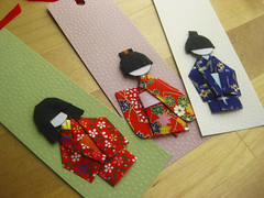 Shiori Ningyo Bookmarks (umeorigami) Tags: japan paper origami handmade crafts bookmark ningyo chiyogami shiori