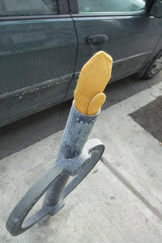 yellow mitten