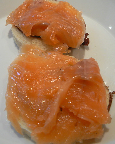 Building Benedict: Gravlax on toast