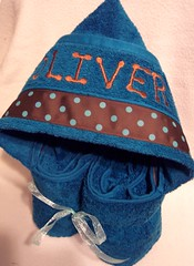 Dark Teal Polka dots Hooded Towel (spiritofgiving) Tags: towels custom personalized hooded