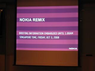 Nokia Remix 2008 (Pre-Media Briefing)