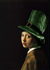 Girl with the Shamrock Earring (Gravityx9) Tags: photoshop ala chop vermeer 000 stpatricksday 0310 americaamerica pearlearring janvermeer mastersoflight wearingothegreen impulsivecreations holidaysofallkinds 031710 wmphillips spoofingthearts