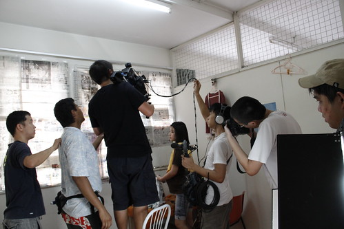 Shooting a scene