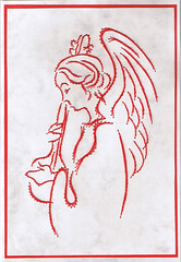 Stitch 05 (piechot) Tags: angel pin embroidery card stitching greeting stitched broidery