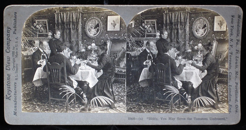 Biddy, You May Serve the Tomatoes Undressed. Keystone View Company. 1900