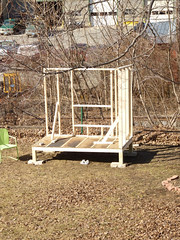 DAY 1 (onegarnetgirl) Tags: house building chicken construction handmade coop framing doityourself chickencoop