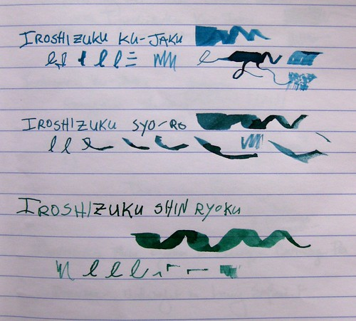 Three Pilot Iroshizuku Ink comparisons, III