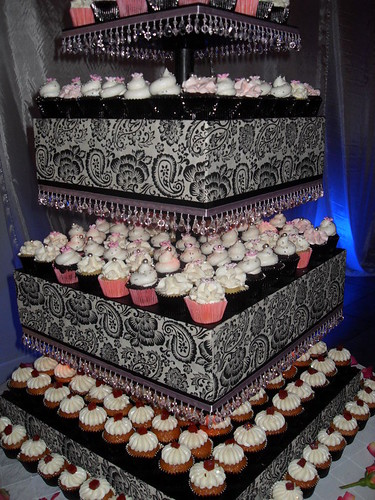 Wedding Cupcake Tower would you be brave enough to display this at your