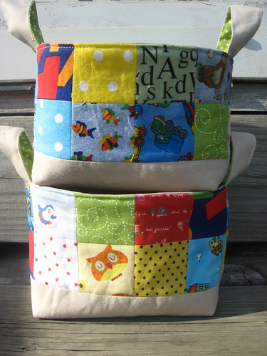 Patchwork Fabric Baskets