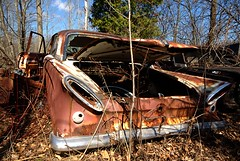 Alien (Mr Perry) Tags: ford mercury rusty oxidation junkyard comet 1961 autowreckers 1961comet mcleansautowreckers