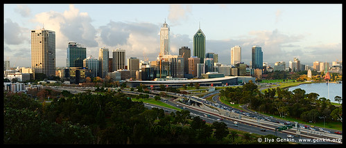 Perth CBD, View from Kings Park, Perth, WA, Australia