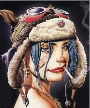 tank girl smoking