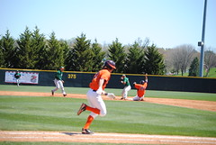 DOUBLE PLAY (SneakinDeacon) Tags: acc baseball miami ncaa vt hurricanes blacksburg virginiatech hokies englishfield