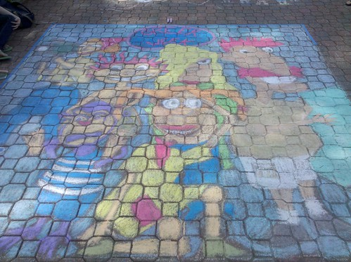 Chi Omega's Chalk on the Mall