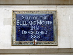 Photo of Bull and Mouth, London blue plaque