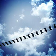 Makes a bridge over the sky