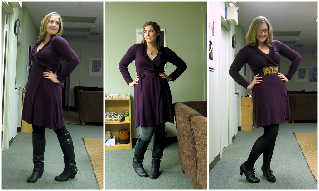 purple wrap sweater dress remixes