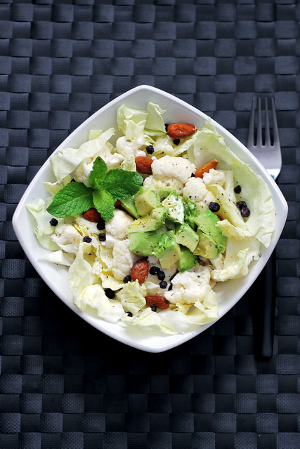 Cauliflower, Cabbage and Avocado