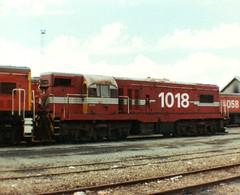 DB 1018 Wellington May 1986 (AA654) Tags: newzealand diesel railway loco db wellington locomotive 1018 g8 emd nzr