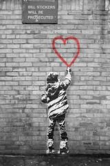 bill stickers will be prosecuted (Sisqu Tena) Tags: street carrer london londres art grafiti graffiti monochrom blancinegre desaturated fuji xt2