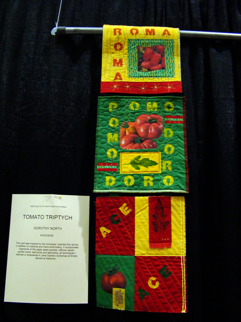 DSC02667 NorCal quilt Tomato Triptych by Dorothy North