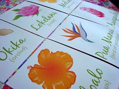 """hawaiian wedding - table """"numbers"""""""
