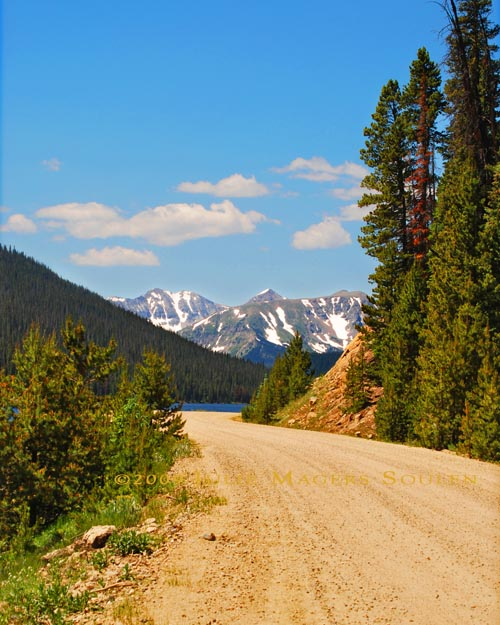 Long Draw Road, Colorado with mountain views