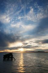 Sunset over Berkeley's Marina (Fred.Thomas) Tags: california blue sunset red sea sky usa cloud seascape water yellow marina berkeley nikon warm unitedstates outdoor gray bayarea northamerica d300 fredthomas