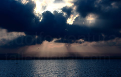 Leave it all behind (Adolfo Ventura) Tags: sunset sky valencia clouds canon lago atardecer eos mar agua albufera 50d