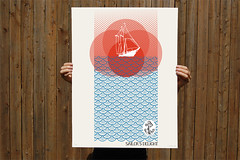 Red Sky at Night... (wearebrainstorm) Tags: art print poster boats design sailing brainstorm silkscreen anchor redsky