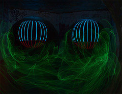 Synack's orbs (54 Ford Customline) Tags: lightpainting drain orbs elwire rcp stormwaterdrains glasscreekdrain splitchamber