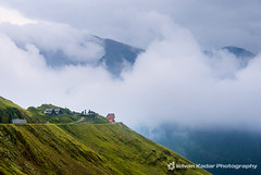 Mountain Cabin (fesign) Tags: road travel summer mist mountain mountains nature up grass landscape high cabin sheep flock pass romania lamb transylvania range herd carpathians scenics carpathian fagaras transfagarasan carpathianmountains transfăgărăşan theunforgettablepictures fogarasihavasok outstandingromanianphotographers
