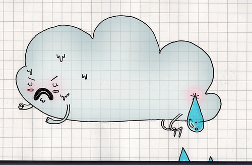 Do you ever wonder where those big fat raindrops come from?