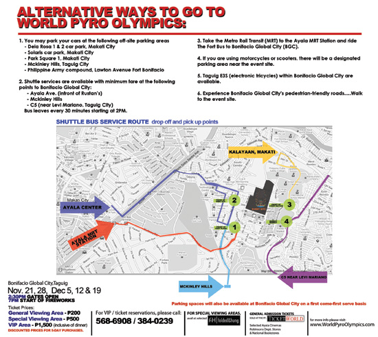 How to go to the Pyrolympics 2009