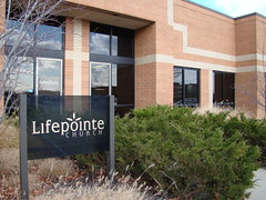 Lifepointe meets in an office complex at Hamilton Crossing.