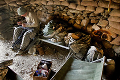 Outpost shelter (The U.S. Army) Tags: afghanistan training soldier flag military bunker usarmy afg paktika paktikaprovince combatoutpostmunoz